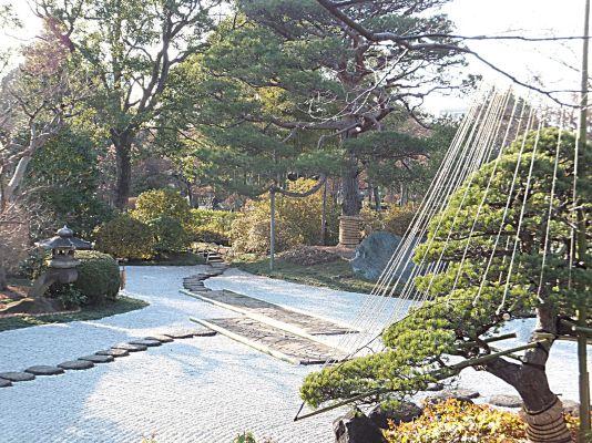 源心庵の前庭全体